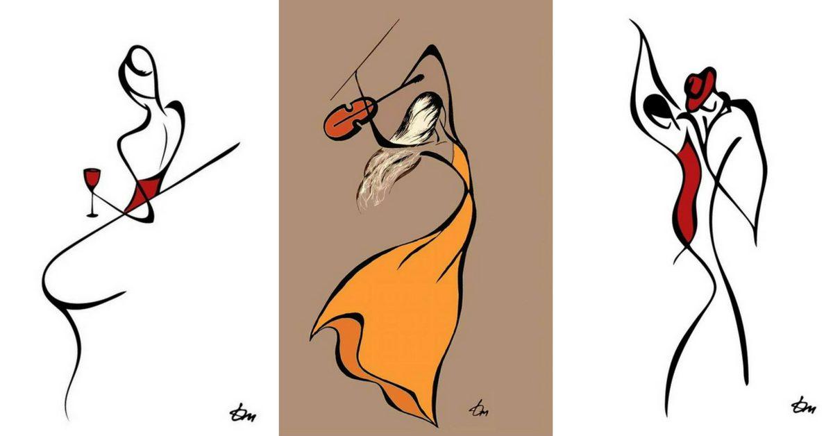 """""""Сложни"""" емоции, изобразени с """"прости"""" линии (минималистични илюстрации)"""
