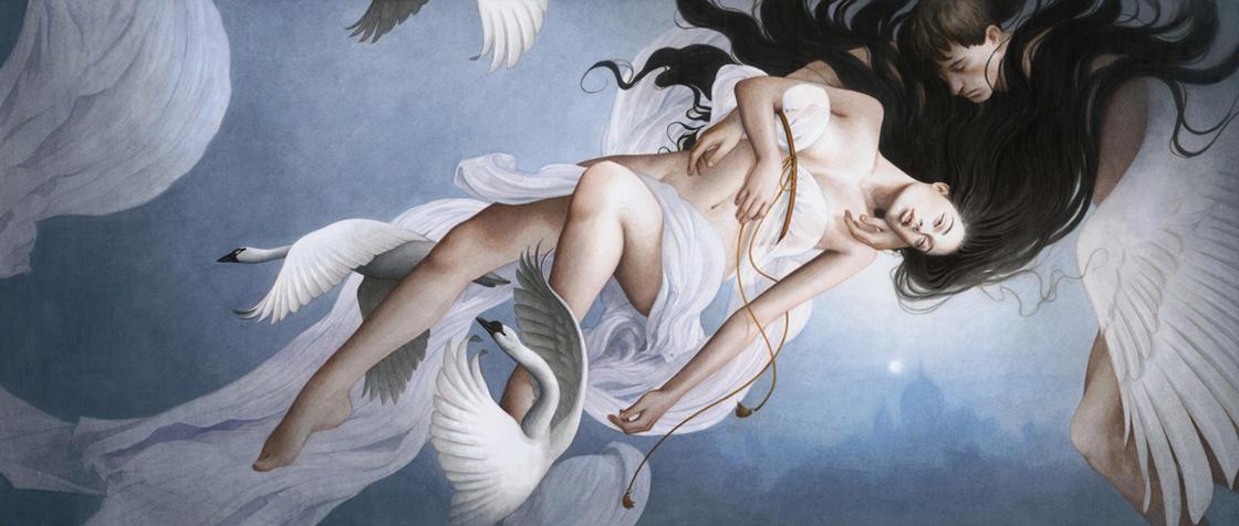 Където жените са богини - сюрреалистичните, меланхолични картини на Tran Nguyen
