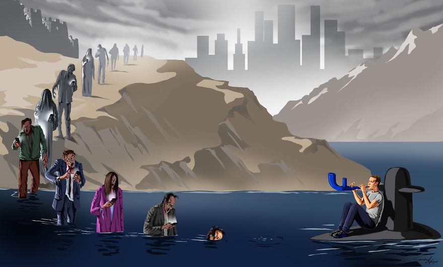 Сатиричните илюстрации наGunduz Agayev