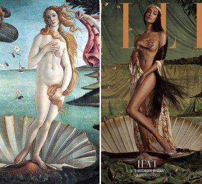 """Модели претворяват 5 емблематични картини под надслова """"Изкуството е противоотрова на негативността в живота"""""""