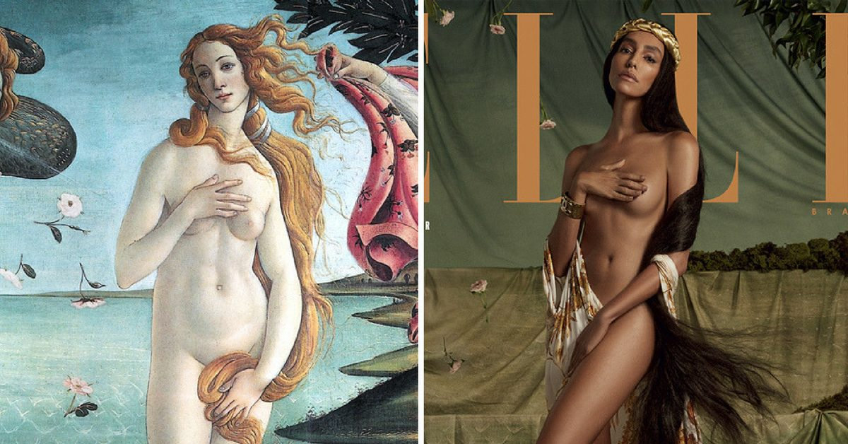 Модели претворяват 5 емблематични картини