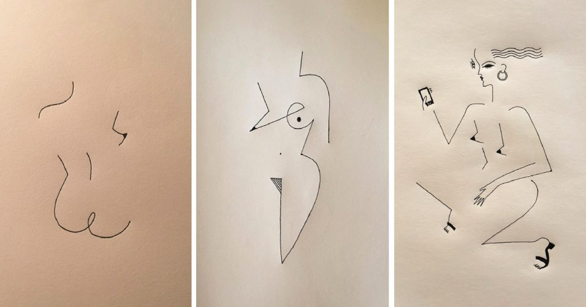 египетските йероглифи и гръцките кори - в минималистичните илюстрации на Blanca Miró