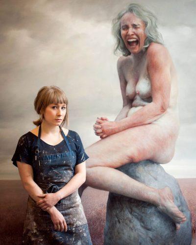 """Красотата на несъвършеното тяло с минало: американска художничка създава огромни, свръхреалистични платна на """"лелите"""" с които е израснала"""