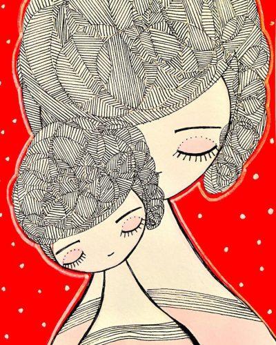 Радостта от майчинството в приказни илюстрации
