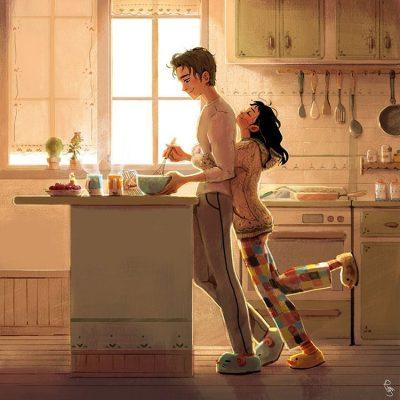 Любовта зад затворени врати – в илюстрациите на Lynn Choi