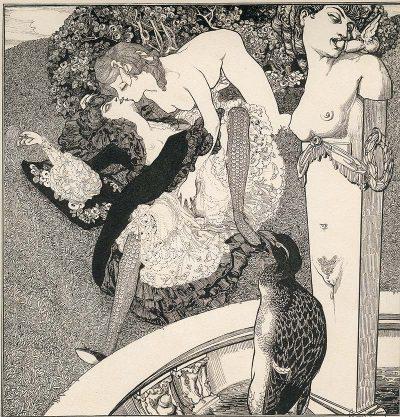 """""""Приказки от тоалетката"""" на Франц фон Байрос: еротични илюстрации от 19 в. повдигат балдахина на консервативните спални"""