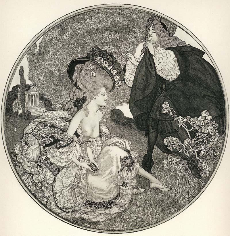 """""""Приказки от тоалетката"""" на Франц фон Байрос: еротични илюстрации"""