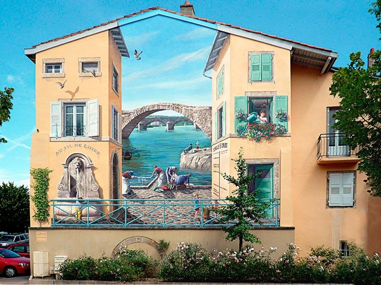 Фалшиви фасади: Изящното улично изкуство на Patrick Commecy