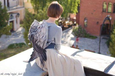 Приказни филцови раници превръщат притежателите си в ангели със спуснати криле