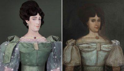 37-годишен мъж пресъздава – до съвършенство – портретите на свои предци