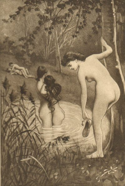 "илюстрация на Едуар-Анри Аврил за ""Фани Хил"""
