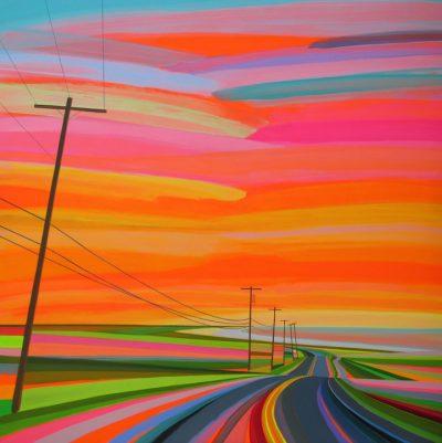 """Неонови залези и """"неизбледняващи"""" пейзажи – в картините на Грант Хафнер"""