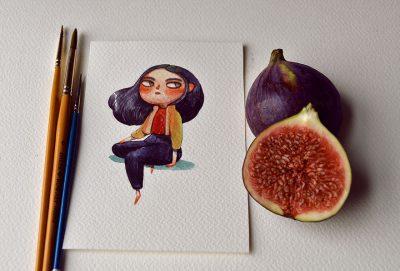 Плодове и зеленчуци оживяват като ярки, акварелни герои