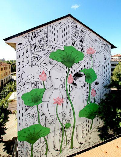 Между сюрреалистични и плашещи (със социалния си коментар) – графитите на Millo