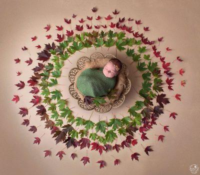 """Фотограф снима """"любовта, която ни заобикаля"""" като поставя новородени в средата на ръчно направени мандали"""