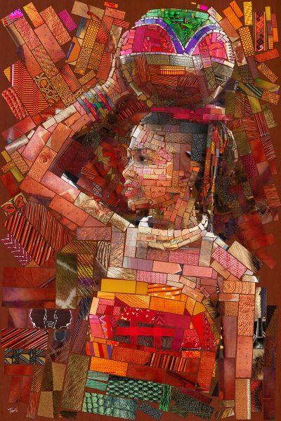 """Трибют на африканските племена – гръцки артист създава цветни пана, """"попили"""" история и традиции"""