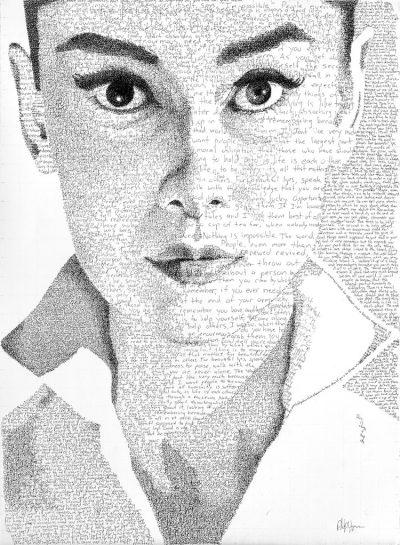 """""""По думите им"""": типографски портрети, създадени изцяло от ръчно изписани цитати"""