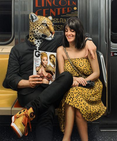 Диадата човек-звяр – в хиперреалистичните картини на Matthew Grabelsky