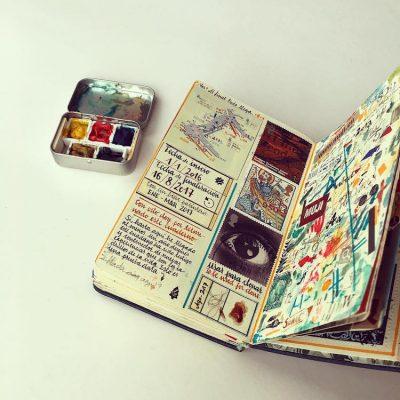 Красота в джобен формат: визуалните, пътни дневници на талантлив художник