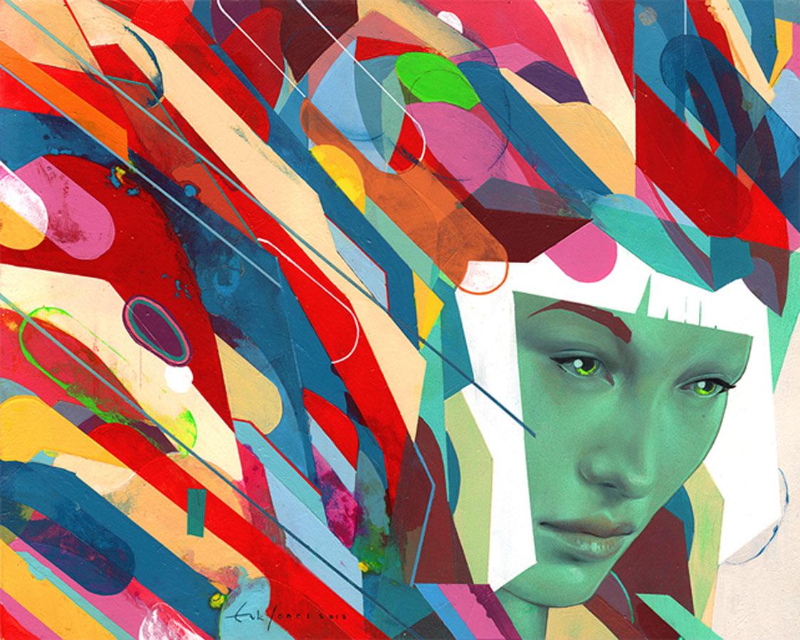 хибридното изкуство на Ерик Джоунс
