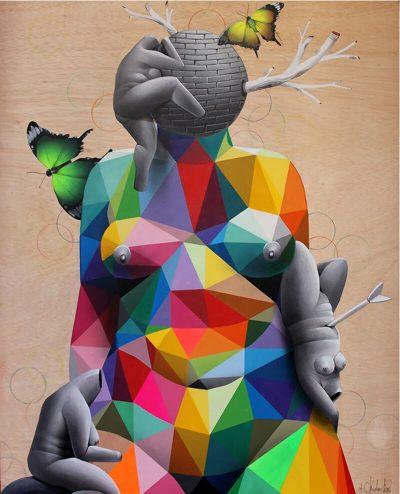 Въздействащ иконографски език – в геометричните картини на Okuda San Miguel