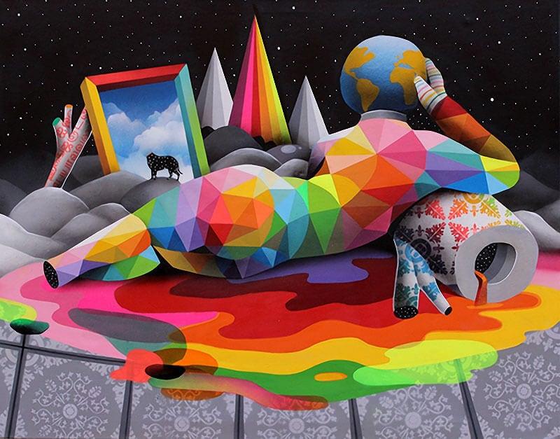 геометричните картини на Okuda San Miguel