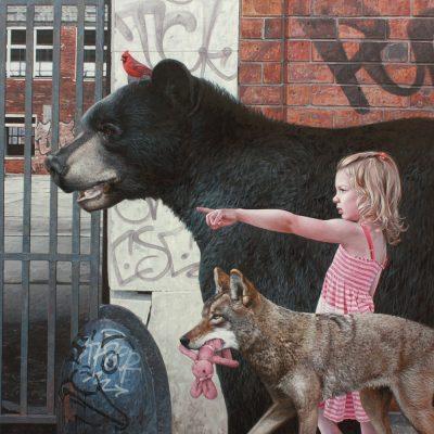 """Порастването в един """"счупен свят"""": хиперреалистичните платна на Кевин Питърсън"""