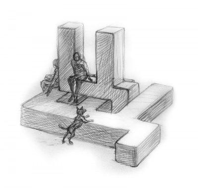 """Скритите букви – 12 """"тайни"""" пейки с формата на кирилски букви ще оформят оазиси на четенето в София"""