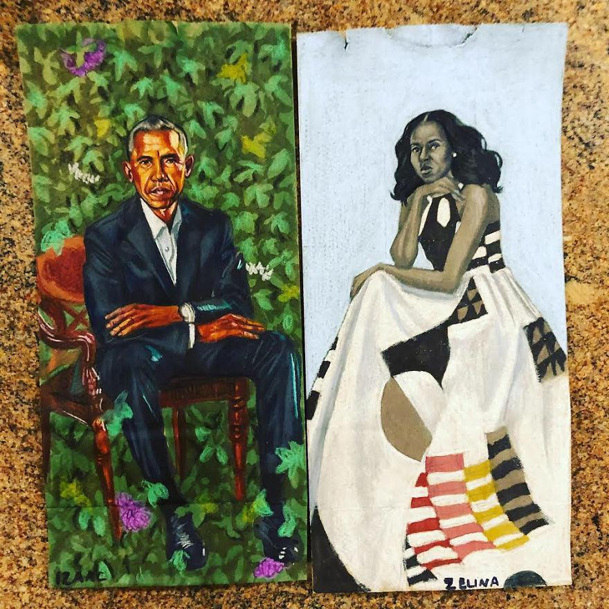 Художник насърчава децата си да преодолеят срамежливостта си, като рисува приказни картини върху... пликовете им за обяд (и дори Барак Обама оценява изкуството му)