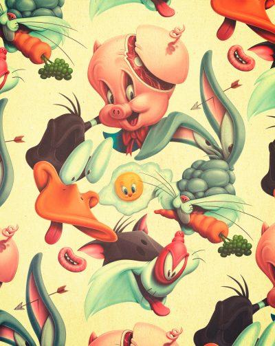 """Deconstruction: испански артист """"разбива"""" поп иконите на парчета (илюстрации)"""