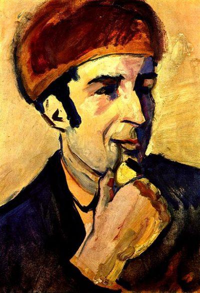 Портрет на Франц Марк от Август Маке (1910)