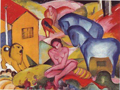 Франц Марк: Изкуството винаги е било в същността си най-смелото отклонение от природата (картини и литографии)