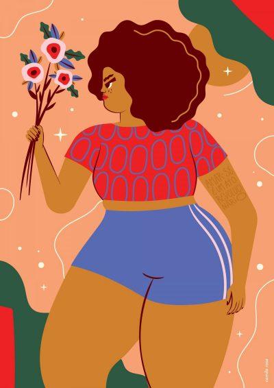 Феминизмът и веганизмът – илюстрирани от бразилска художничка