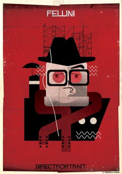 DIRECTPORTRAIT: портрети на известни режисьори, създадени от иконични елементи от филмите им