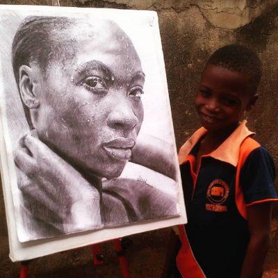 Въздействащите, хиперреалистични портрети на 11-годишно нигерийско дете
