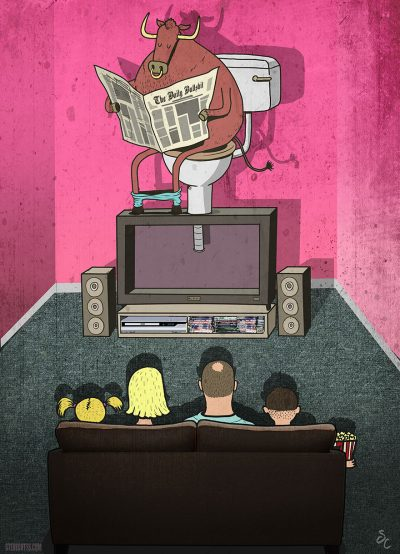 """Горчивите"" илюстрации (и анимации) на Steve Cutts"