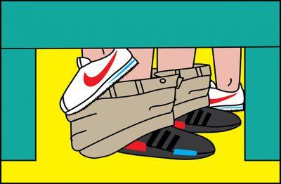 SneakerSutra: където хора ползват маратонките, както пауните перата (илюстрации)