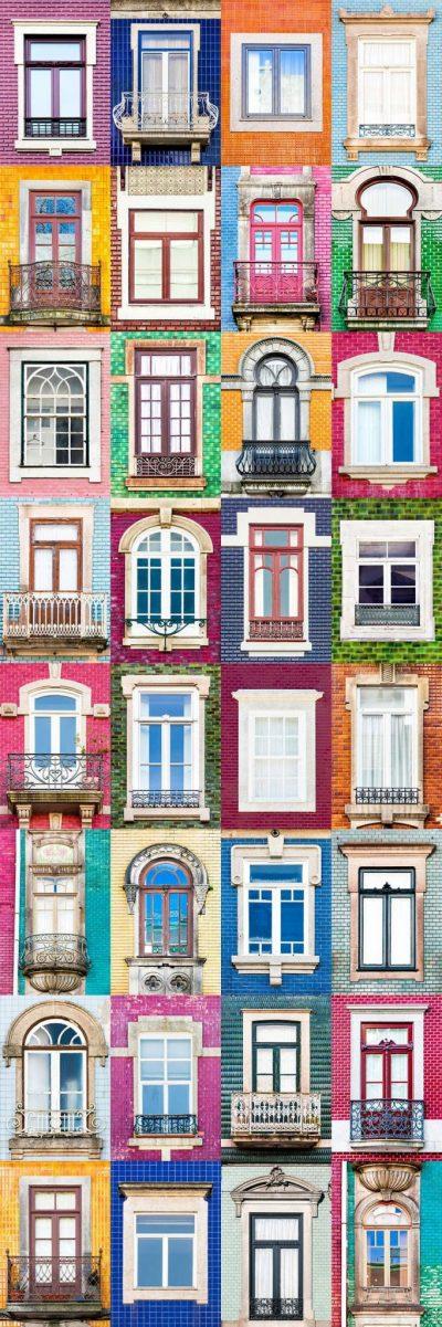 3 200 снимки (на прозорци и фасади) отразяват пъстрата красота на Португалия.