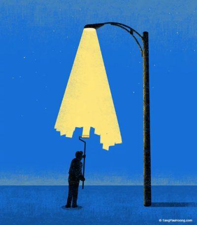 Светлината като предмет и концепция - в ярките игри с негативното пространство на Tang Yau Hoong (илюстрации)