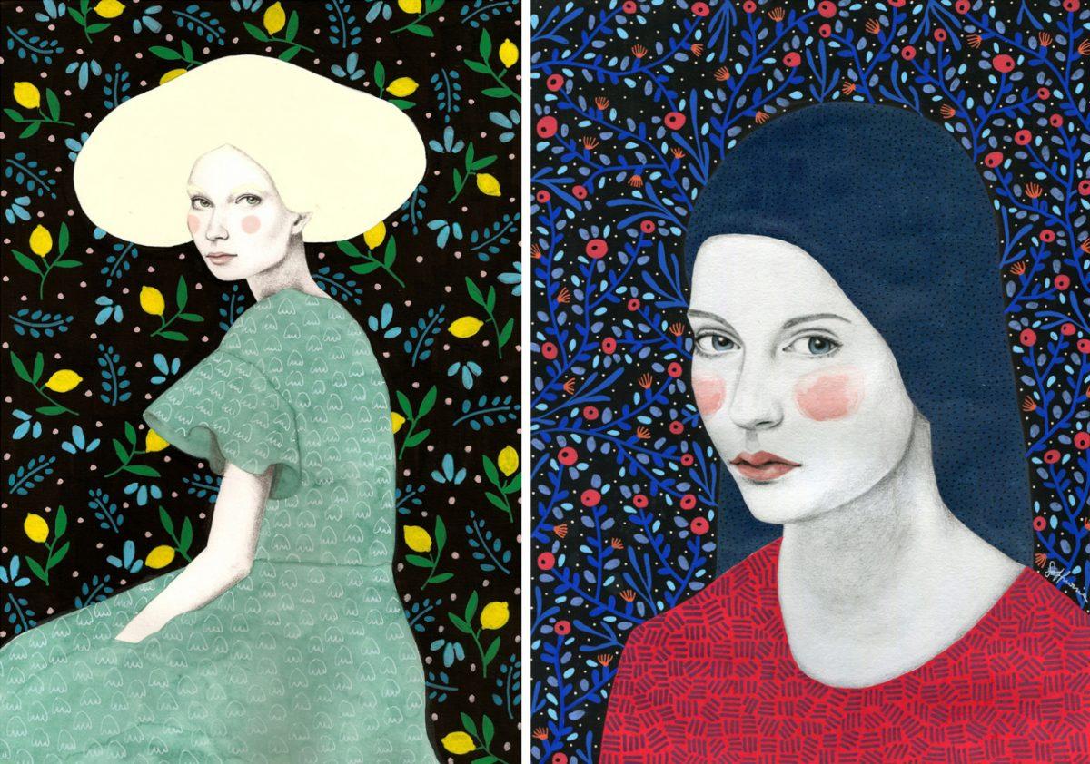 Хипнотизиращите жени на Sofia Bonati (илюстрации)