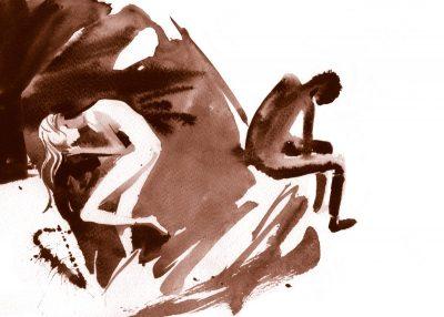 """Откъс от """"Жажда"""" на Захари Карабашлиев. С акварелните илюстрации на Дамян Дамянов"""