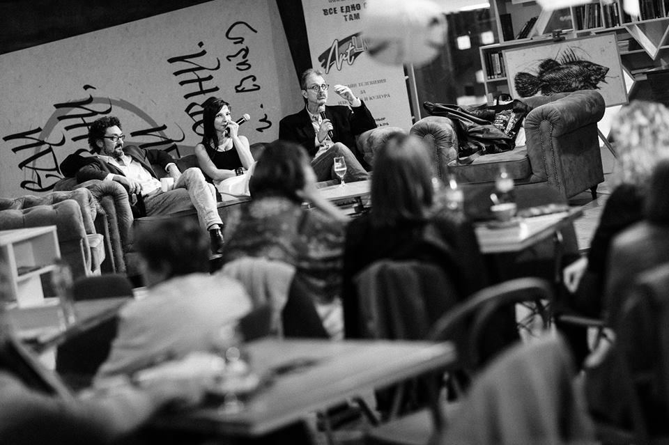 """Давид Фоенкинос в България. Снимка: Орлин Огнянов/ Литературен клуб """"Перото"""""""