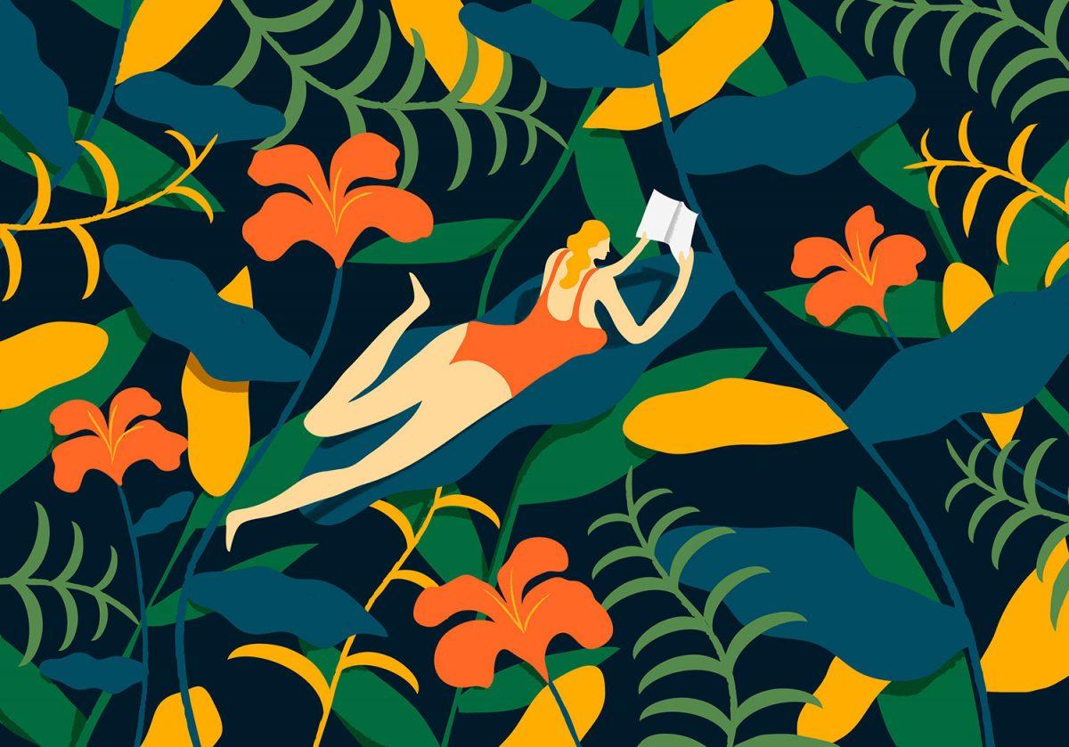 Вечно лято, ярки цветове и хармонични форми - в илюстрациите на Quentin Monge