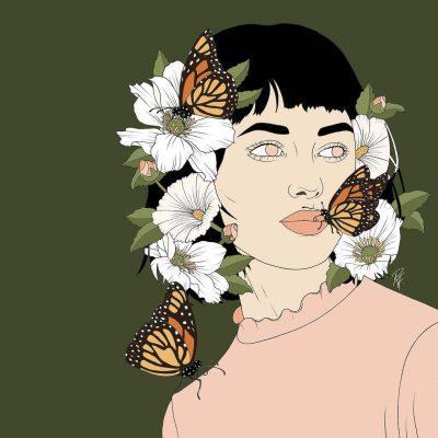 """Меки, пастелни тонове и """"твърди"""" момичета – в илюстрациите на Rebecca Flattley"""