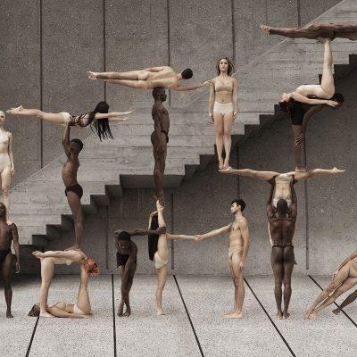 """Човешки тела """"извайват"""" динамични, сюрреалистични композиции (изпращащи послания за толерантност и надежда)"""