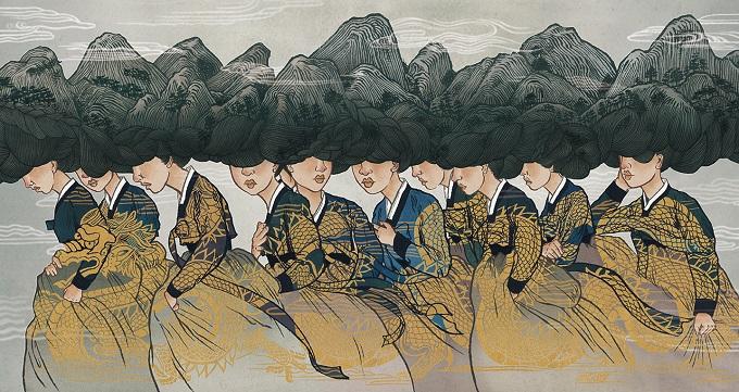 Древни и съвременни богини - илюстрациите на Sean Kwon