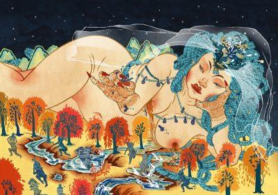 """Древни и съвременни богини като """"съд за промяна"""" – в илюстрациите на Sean Kwon"""