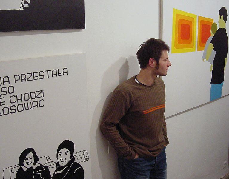 Вилхелм Саснал в Raster Gallery, 2001