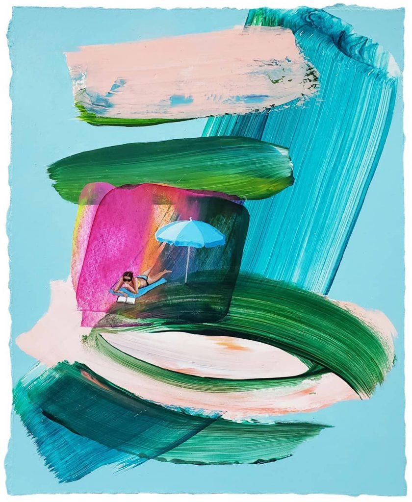 Дълбочина на движението, текстура и усещане за лято - в цветното изкуство на TaylorCox