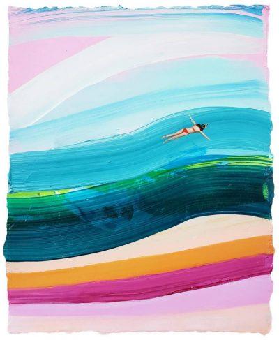 Дълбочина на движението, текстура и усещане за лято – в цветното изкуство на TaylorCox